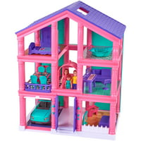Kid Connection 3-Story Dollhouse Play Set 77095 24 Pieces Deals
