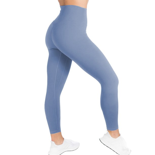 Acappella Yoga Pants Women Workout Sport High Waisted Legging Fitness Seamless Tights Workout Activewear For Running Gym And Kicking Blue S Walmart Com Walmart Com