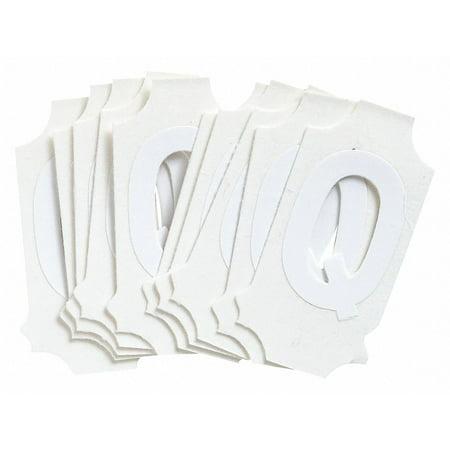 Letter Label, Q, White, 1