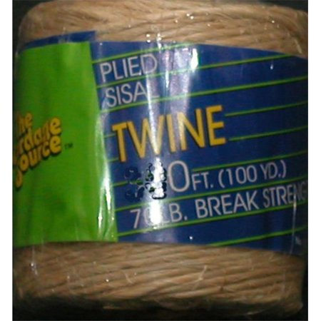 The Cordage Source 184010049 1004 160 ft. Braided Poly Twine, White