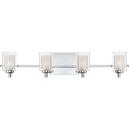 Large Four Light Vanity - Atlin Designs 4 Light LED Vanity Light in Polished Chrome