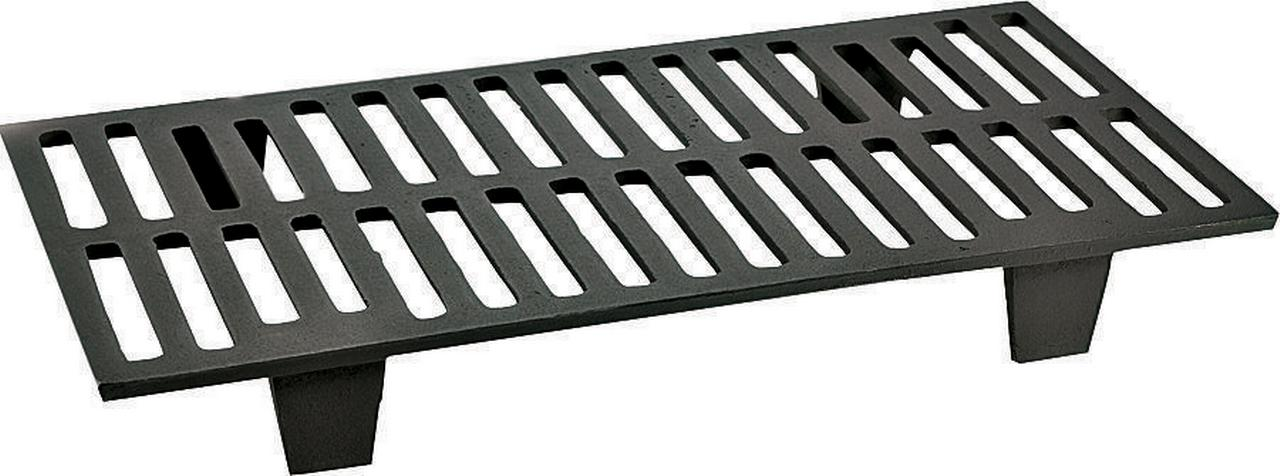 Vogelzang 42G Wood Stove Grate, 11 in W x 21 in D x 2-3 4 in H, Cast Iron by Vogelzang
