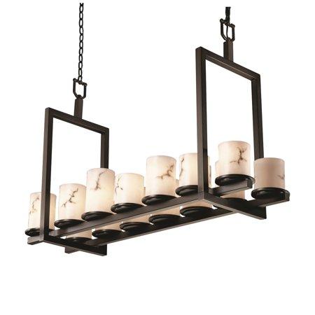 - Justice Designs LumenAria Dakota 14-LT Bridge Chandelier (Short) - Dark Bronze - FAL-8769-10-DBRZ