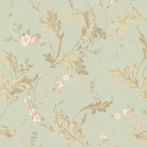 York Wallcoverings Heritage Home Delicate 27' x 27'' Acanthus Distressed Wallpaper