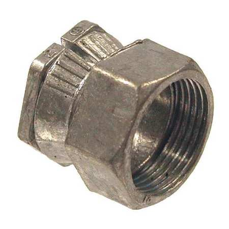 EMT Connector,2 PC,Conduit Size 1/2 In ZORO SELECT 2DDE9