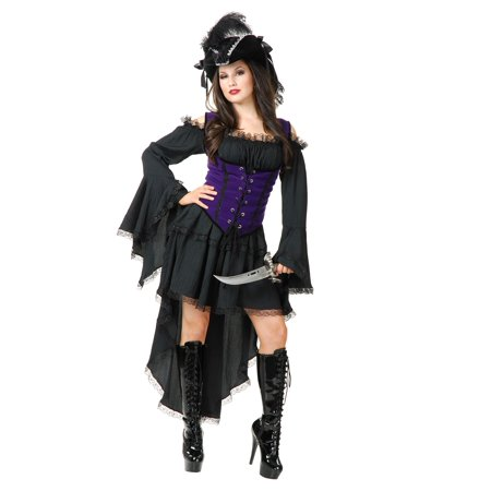 Black Pearl Pirate Lady Costume