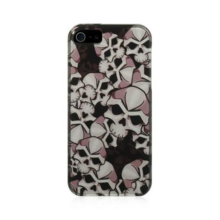 Skull Back Cover - Insten Skull Hard Snap On Back Protective Case Cover For Apple iPhone 5 / 5S / SE - Multi-Color