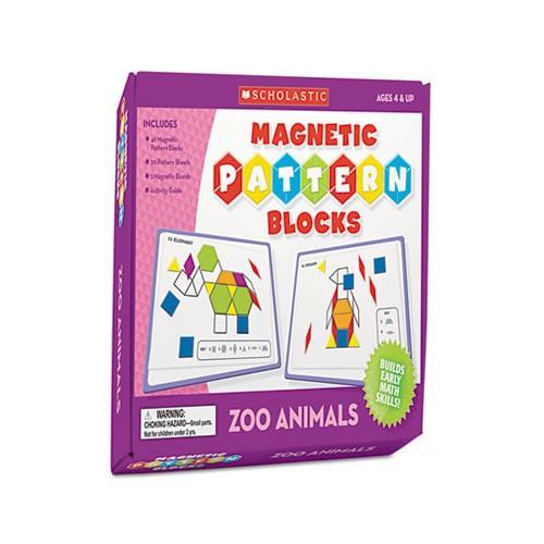 Scholastic Magnetic Pattern Blocks, Zoo