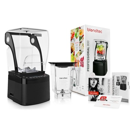 Blendtec Professional 800 Blender with BPA-Free WildSide + Jar + Blending 101 Quick-Start Guide and Recipes +