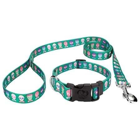 Country Brook Petz® Dapper Skulls Deluxe Dog Collar & Leash