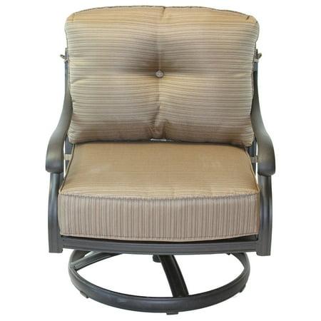 Nassau Cast Aluminum Club Rocker Chair