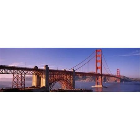 Suspension bridge at dusk  Golden Gate Bridge  San Francisco  Marin County  California  USA Poster Print by  - 36 x 12 - image 1 de 1