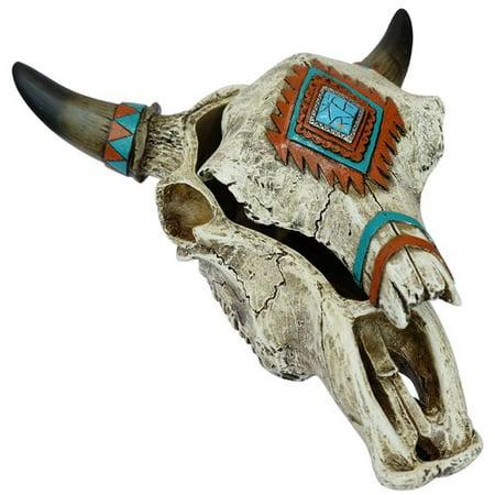 De Leon Collections Southwest Skull Trinket Decorative Box