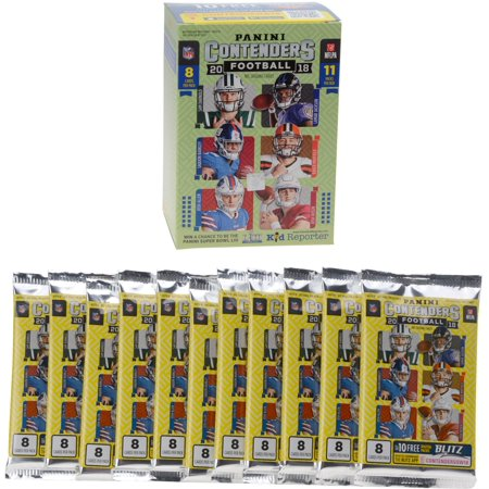 Signed Replica Lineup Card (2018 Panini Contenders Football Factory Sealed 11 Pack Fanatics Exclusive Blaster Box)