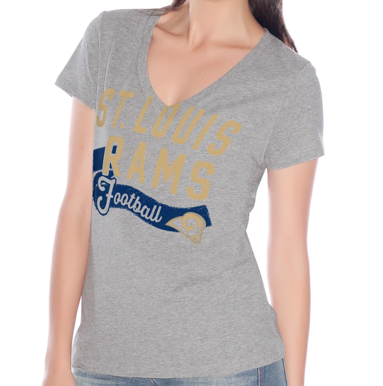 "St. Louis Rams Women's G-III NFL ""Scout Team"" V-neck Grey T-shirt"