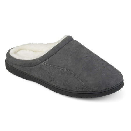 (Territory Men's Faux Sherpa Lined Faux Suede Clog Slippers)