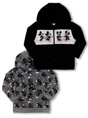 Mickey Mouse Toddler Boy Sweatshirts, 2-Pack (2T-4T)