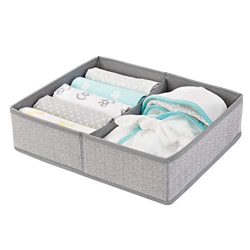 Drawer Organizer mDesign Soft Fabric Dresser Closet Storage  for Child//Kids