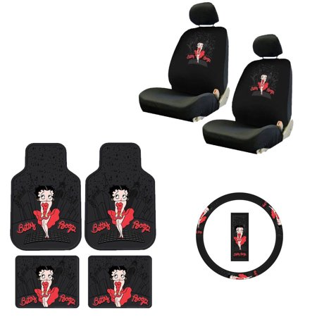 Betty Boop 2 Front Vinyl Floor Mats And Rear With Seat
