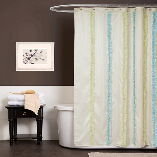 Aria Blue and Green Shower Curtain