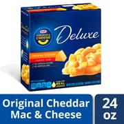 Kraft Deluxe Original Cheddar Mac and Cheese Dinner, 24 oz Box