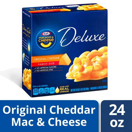 Kraft Deluxe Original Cheddar Mac and Cheese Dinner, 24 oz Box (Kraft Dinner From Canada)