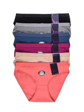 e56d20f13bbb Product Image 6 Pack of Women Cotton Stretch Bikini Panties Mid Rise Basic  Everyday Soild Color Underwear