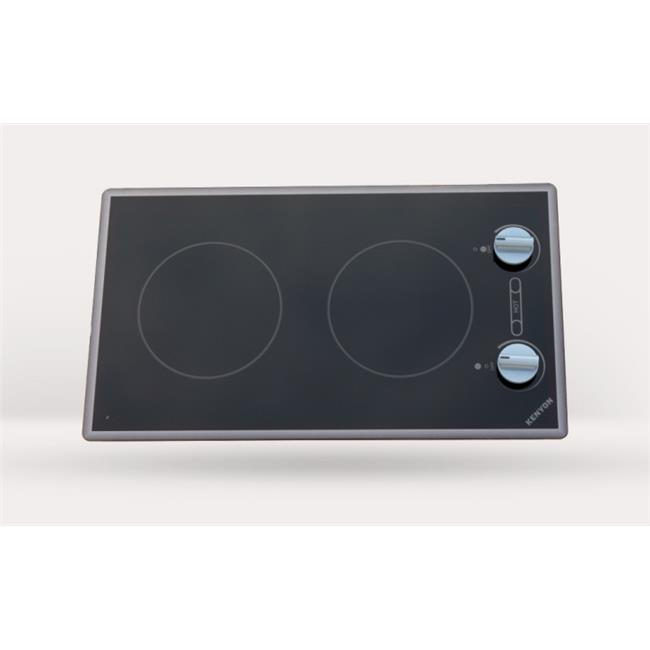 Kenyon B41711 Cortez 2-burner Cooktop, black with analog control - two 6 .5 inch 240V UL
