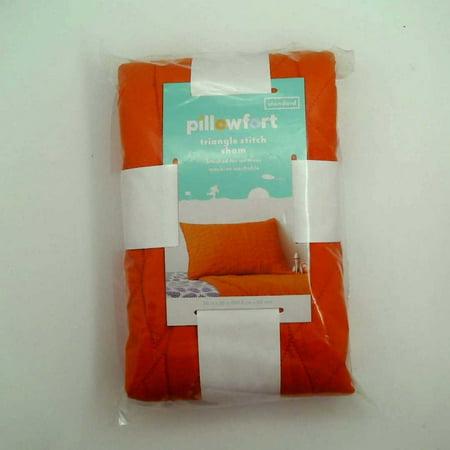 Triangle Stitch Pillow Sham 26 x 20 (Standard) - Orange