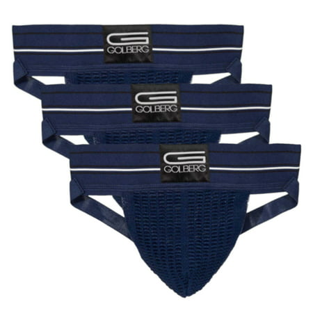 C-in2 Street Jock - Golberg Premium Men's Athletic Supporters - 3 Pack Jock Strap Underwear with Contoured Waistband - Multiple Sizes and Colors