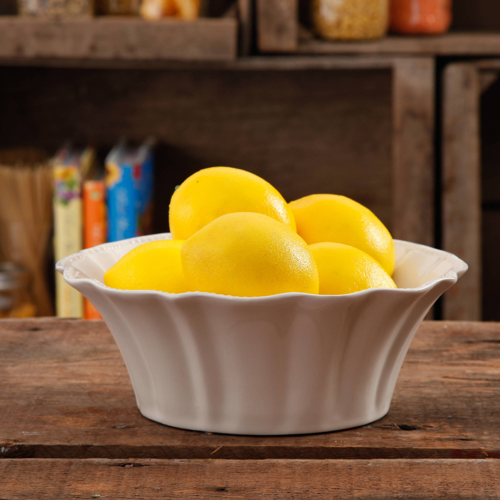The Pioneer Woman Paige Linen Transparent Glaze Serving Bowl