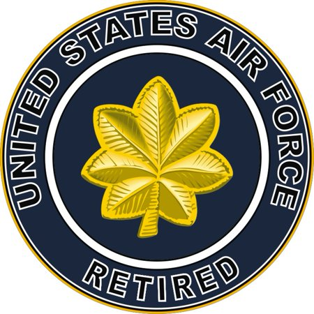 3.8 Inch U.S. Air Force Retired Major Decal