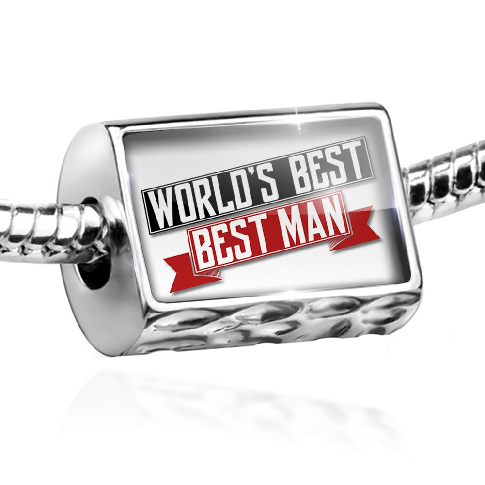 Bead Worlds Best Best man Charm Fits All European Bracelets