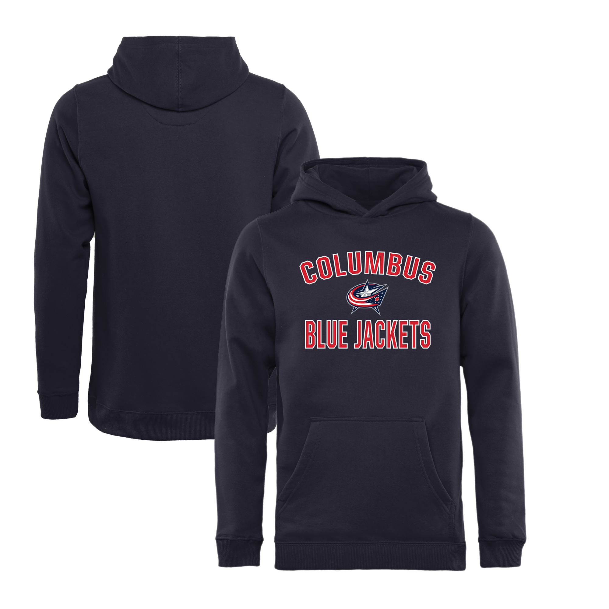 Columbus Blue Jackets Fanatics Branded Youth Victory Arch Pullover Hoodie - Navy