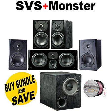 SVS Prime Bookshelf Speakers Black Ash Pair
