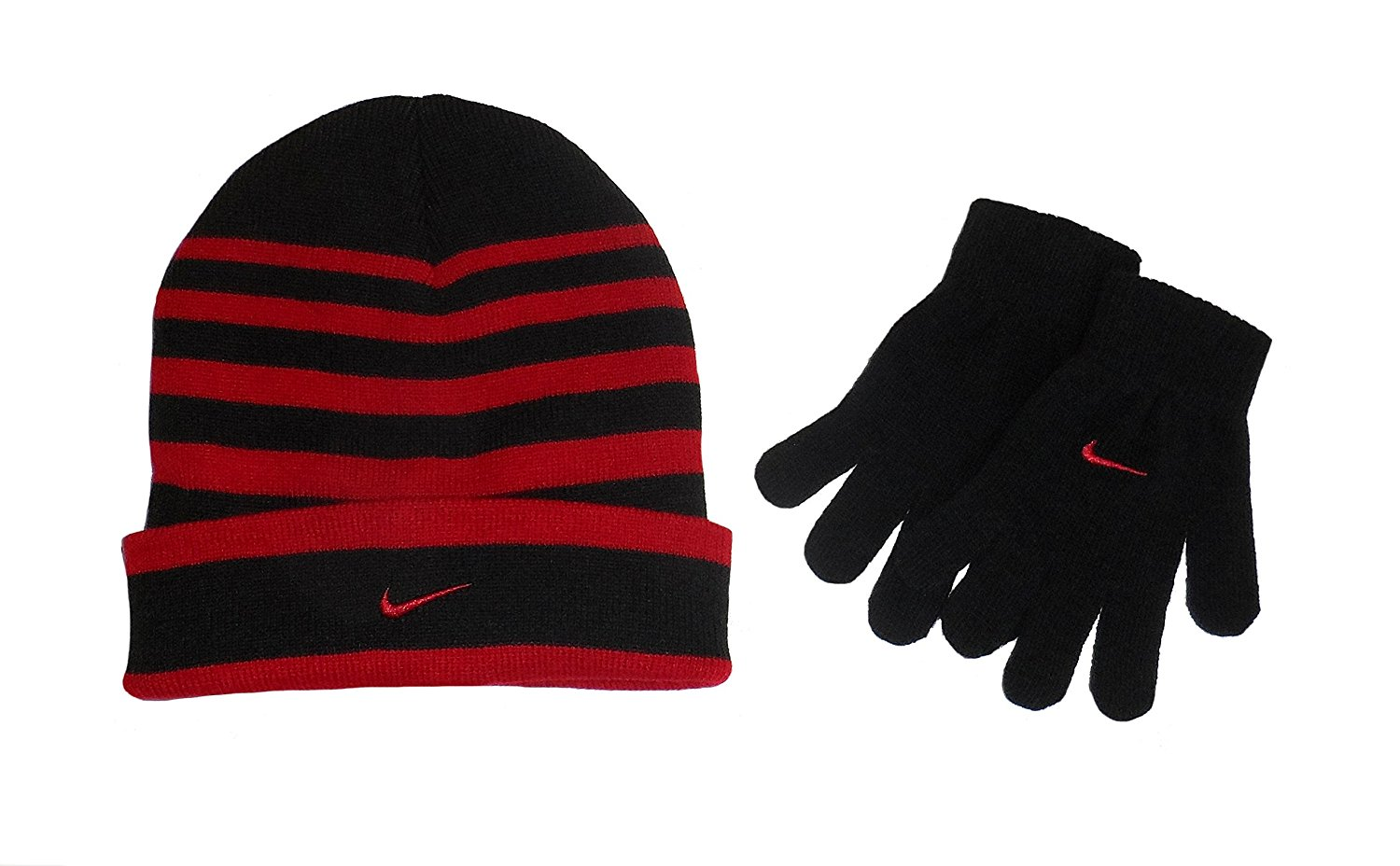 Nike - Nike Kids Teen Winter Striped Gloves   Beanie Hat Set - Walmart.com 9d7ec4c798c