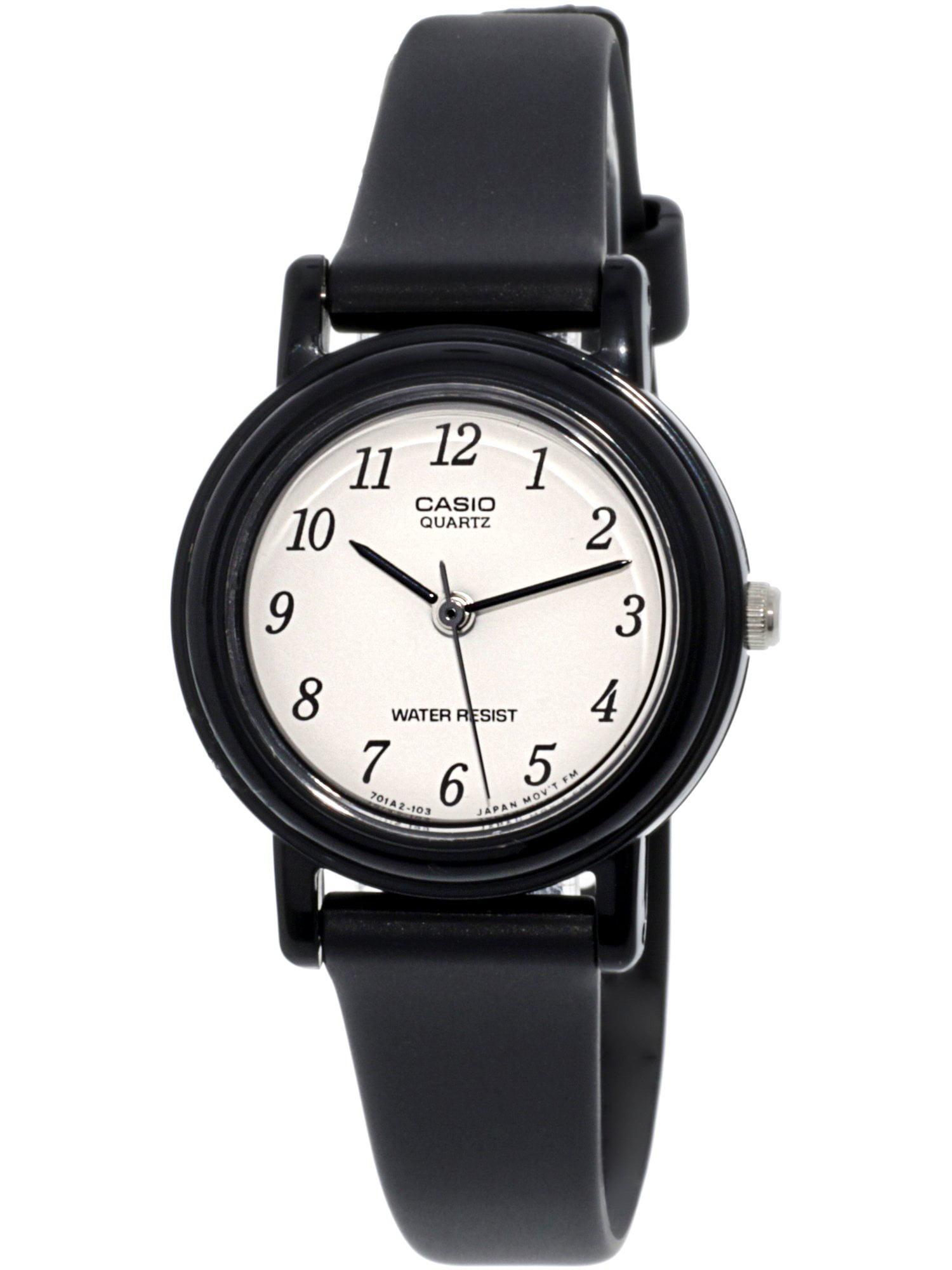 Casio women 39 s lq139bmv 1b black resin quartz fashion watch for Black resin ladies watch