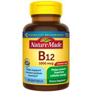 Nature Made Vitamin B12 1000 mcg Softgels, 310 Count for Metabolic Health