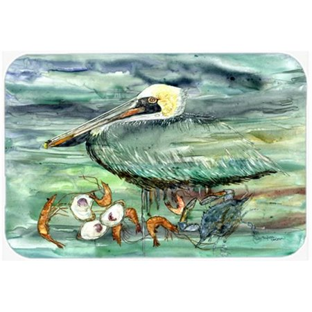 Watery Pelican, Shrimp, Crab & Oysters Kitchen or Bath Mat, 20 x 30 in.