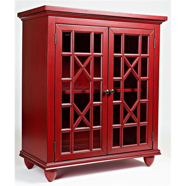 Jofran 1525-31 Brighton Park Accent Chest Red, Vintage Crimson by Jofran