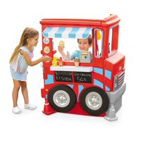 Little Tikes 2-in-1 Food Truck Play Kitchen with 20 Piece Accessory Play Set