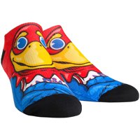 Kansas Jayhawks Rock Em Socks Youth Mascot Low Socks - No Size