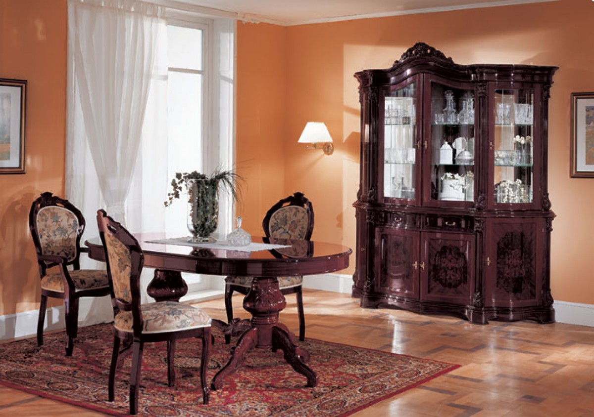 1PerfectChoice Regina Italian Traditional Oval Walnut Wood Dining Table    Walmart.com