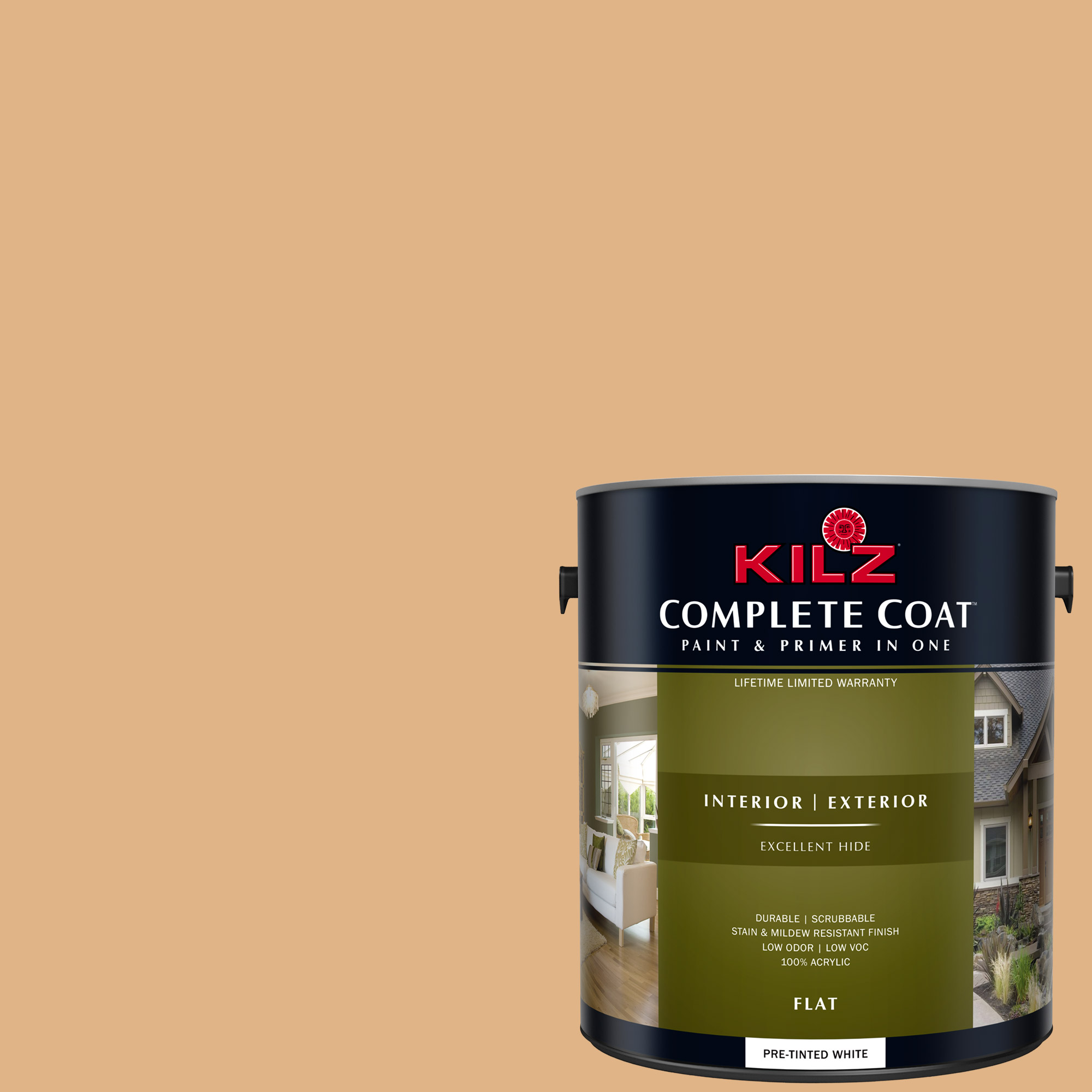 KILZ COMPLETE COAT Interior/Exterior Paint & Primer in One #LD130-01 Antiquarian Brass