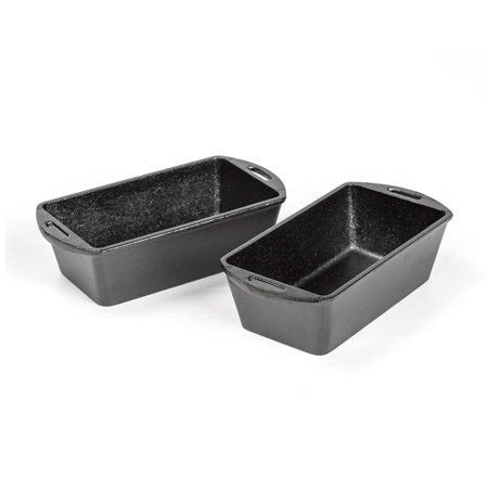 Lodge Cast Iron Bread Pans (Set of 2) (Lodge 5 Piece Cast Iron Cookware Starter Set)