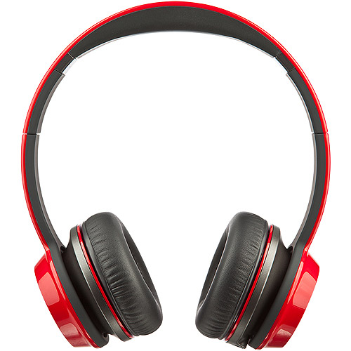 Refurbished Monster NC MH NTU ON RD CU WW NCredible N-Tune On-Ear Headphones - Cherry Red
