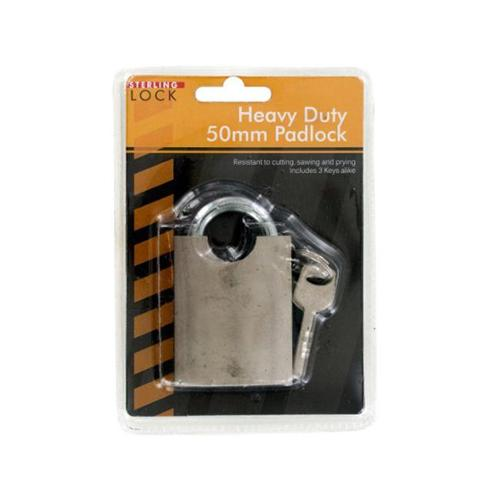 Bulk Buys OC573-16 Heavy Duty 50 mm.  Padlock