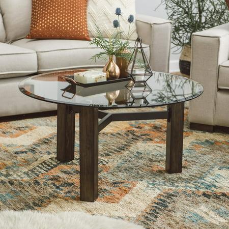 Belham Living Hanover Glass Amp Wood Coffee Table Walmart Com