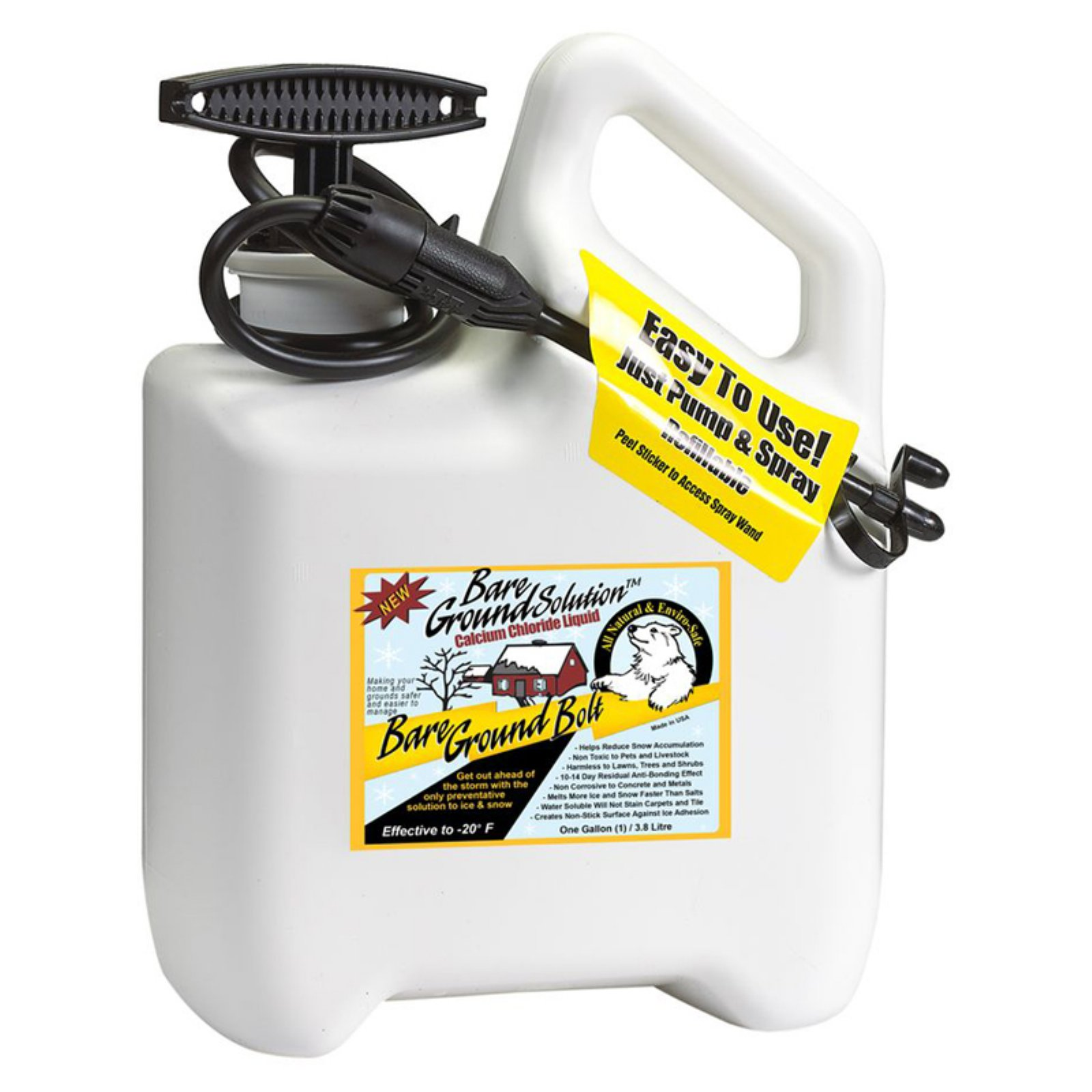 Bare Ground Deluxe System with Pump Sprayer and Calcium Chloride Liquid De-Icer