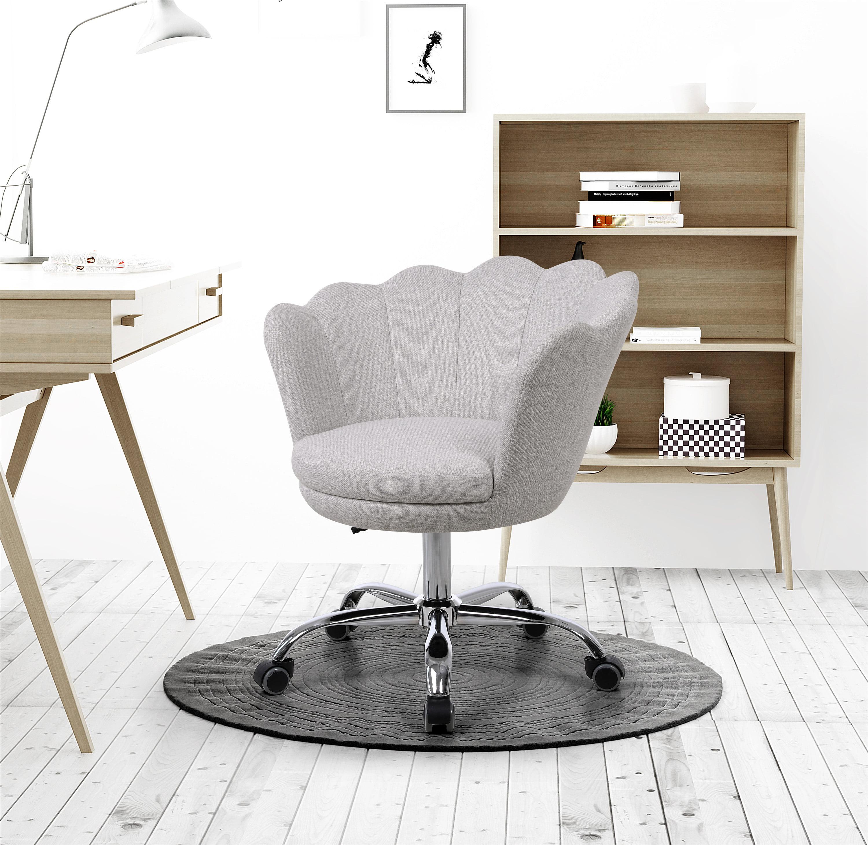 Vanity Chair with Swivel and Back, Modern Velvet Office ...